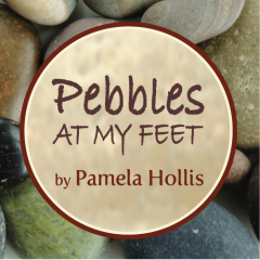 Pebbles at my Feet Natural Stone Adornments Banner