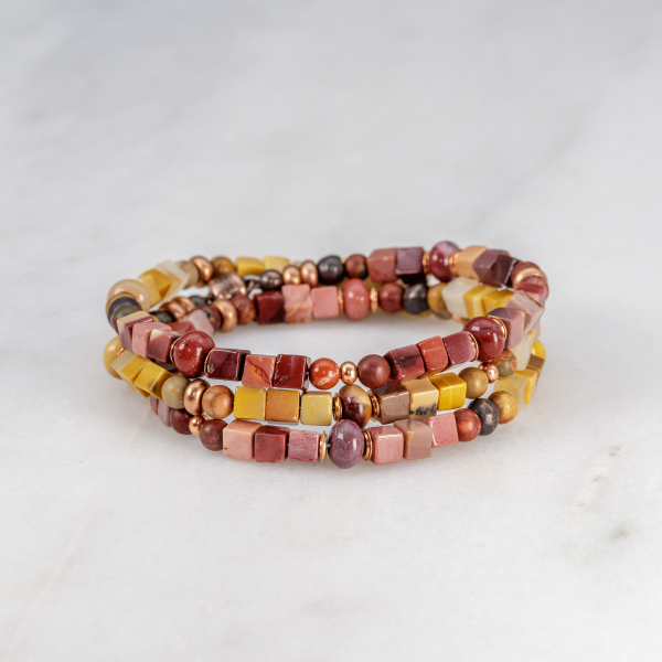 Boho Jasper Bracelet in Fall Colors