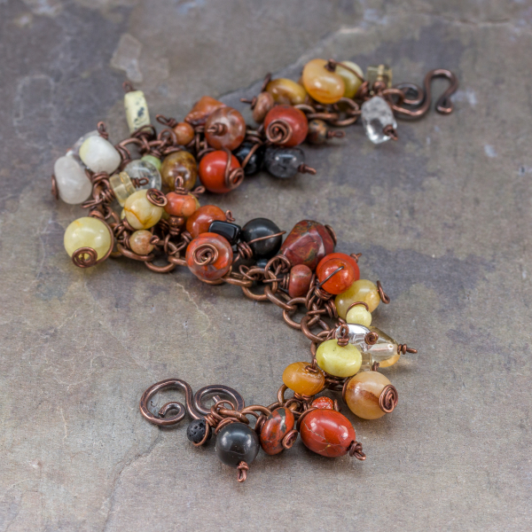 Cha Cha Style Bracelet in Copper and Stone