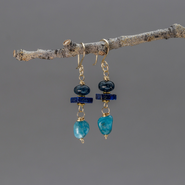 Apatite Earrings 14k Gold Filled