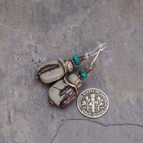 Neutral Gray Jasper Earrings