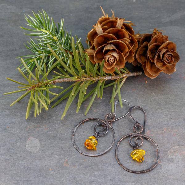 Lightweight Hoop Earrings Copper