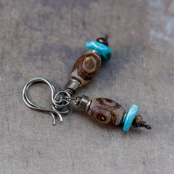 Nickel Free Ear Hooks with Stone Dangle
