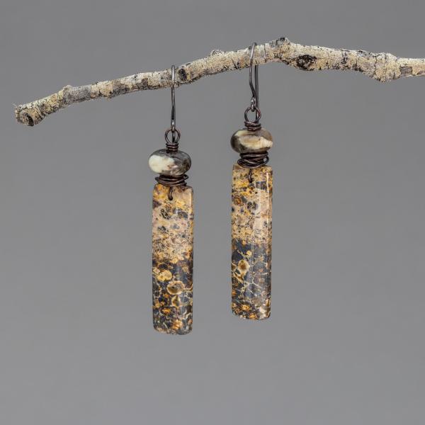 Earthy Jasper Earrings in Copper