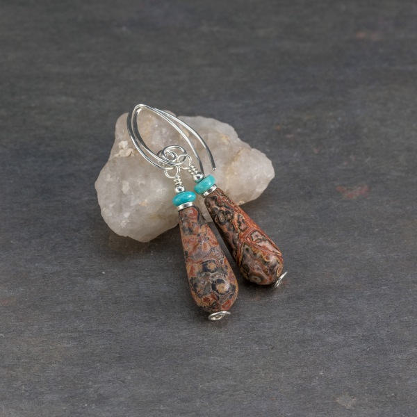 Jasper and Turquoise Earrings