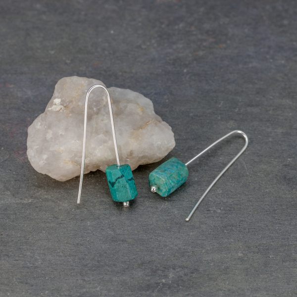 Simple Modern and Rustic Natural Stone Earrings