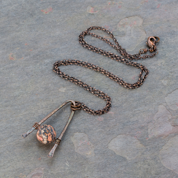 Copper and Jasper Layering Necklace