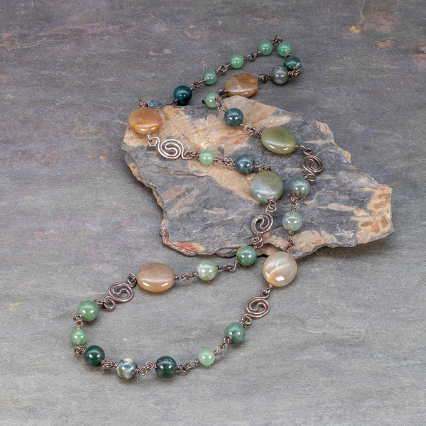 Summer Sage and Grass of South Park Colorado Inspired this Artisan Necklace