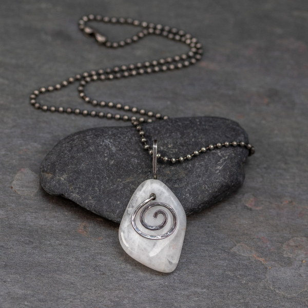 Pebble Necklace in Antiqued Sterling Silver