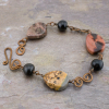 Jasper Stone and Copper Link Bracelet