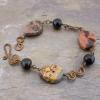 Jasper Stone and Copper Link Bracelet