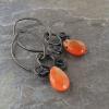 Dainty Drop Earrings with Fancy Wire Scrollwork