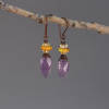 Purple Yellow and Orange Earrings for Fall