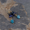 Apatite and Lapis Earrings
