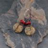 Chohua Jasper Earrings, Copper Wire Wrap