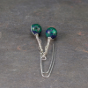 Azurite Malachite Earrings Silver