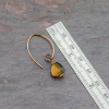 Brown Tiger's Eye Earrings measure Just under 1.5 inches long