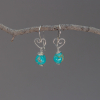 Nickel-Free Heart Earrings with Turquoise