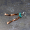 "Copper ""Windchime"" Earrings with Turquoise"