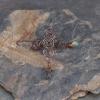 Copper Spiral Earrings with Labradorite Gemstones