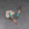 Copper Earrings with Real Turquoise Stones