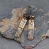 Brown Jasper Stone Rectangle Earrings