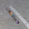 Rainbow Gemstone Earrings are 2.875 inches Long
