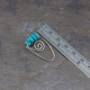 Silver Turquoise Threader Earrings are 1.25 Inches Long