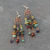 Natural Stone Long Chandelier Earrings