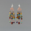 Multi Stone Chandelier Earrings