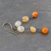 Rustic Orange Stone Earrings
