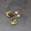 Pearl Dangle Earrings with Shell Nuggets