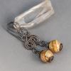 Handmade Brown Stone Earrings