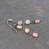 Pink Opal Earrings Linear Dangle Style
