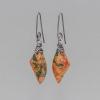 Red and Gray Jasper Earrings