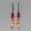 Rhyolite Earrings in Rustic Dark Copper