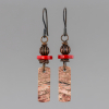 Rhyolite Earrings in Rustic Dark Copper