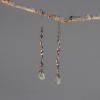 Twisted Sterling Silver Dangle Earrings