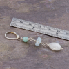 Stone Dangle Earrings are 2.5 Inches Long