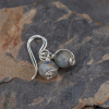 Sterling Silver Wire Wrapped Labradorite Earrings