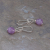 Amethyst Pebble Earrings Sterling Silver
