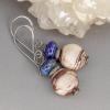 Brown and White Jasper Earrings