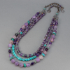"""Amethyst three Layer Necklace is 18"""" to 22"""" Long"""