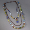 Green, Yellow Green, and Shades of Blue Stone Long Necklace