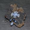 Southwest Bohemian Pendant Necklace with Blue Lace Agate