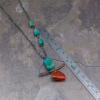 16 Inch Necklace Chrysocolla and Red Jasper