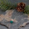 Swirly Wire Work Dainty Stone Necklace