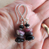 Tourmaline Earrings in Beaded Drop Style