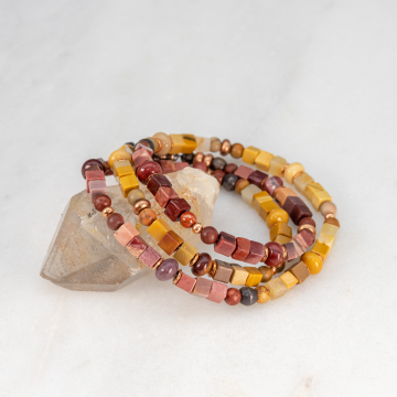 Jasper Wrap Bracelet for Small Woman Wrist