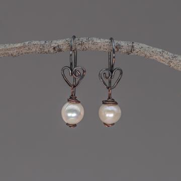 Rustic Pearl Earrings